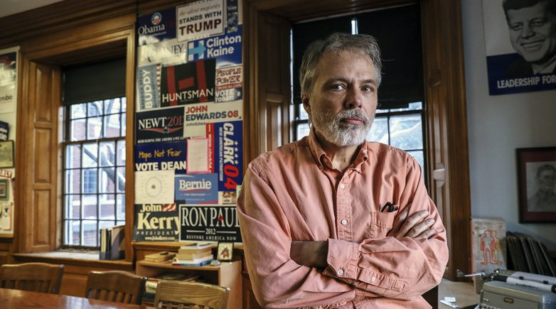 History Instructor Bill Jordan in his Academy Building classroom