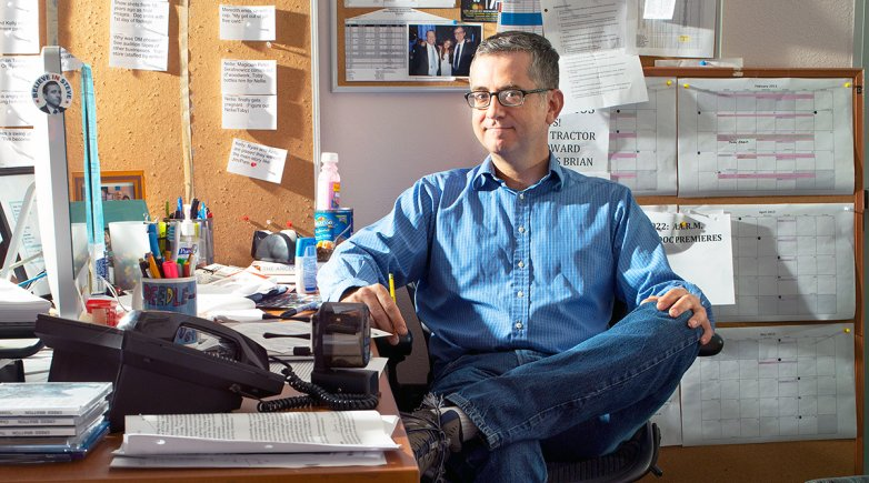 Greg Daniels sitting in his office