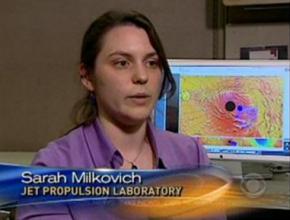 Sarah doing an interview on CBS News